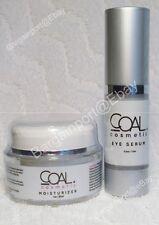COAL COSMETICS ~ Moisturizer Cream 1.0 oz & Eye Serum 0.5 oz ~Anti-Aging Set NEW