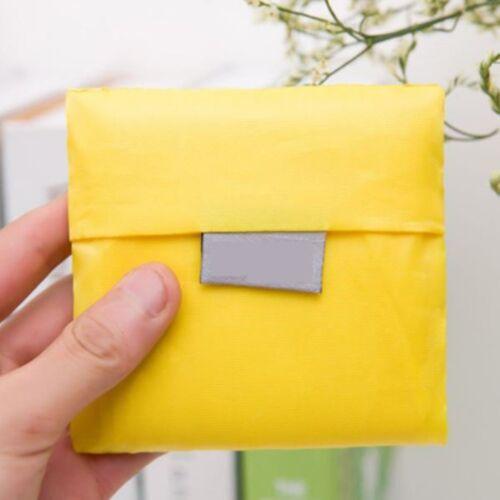 Solid Color Foldable Oxford Cloth Shopping Bag Environment Reusable Handle Bag I