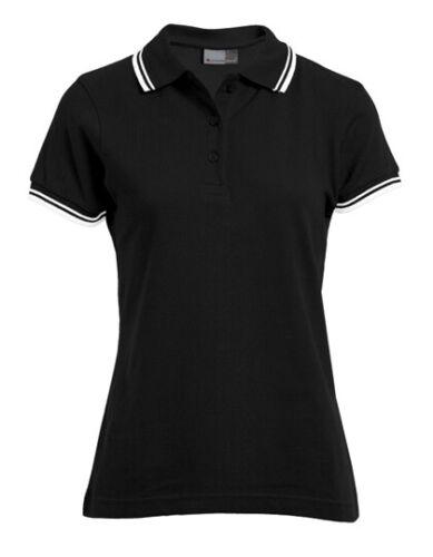 PROMODORO Damen Poloshirt Kontrast Streifen Ärmel Kragen S M L XL XXL E4910