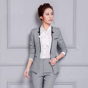 Image Is Loading High Qualit Women Suits Formal Blazers Amp Pant