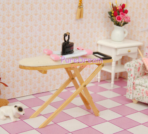 1:12 Dollhouse Miniature Wooden Ironing Stand Just Stand HS0022
