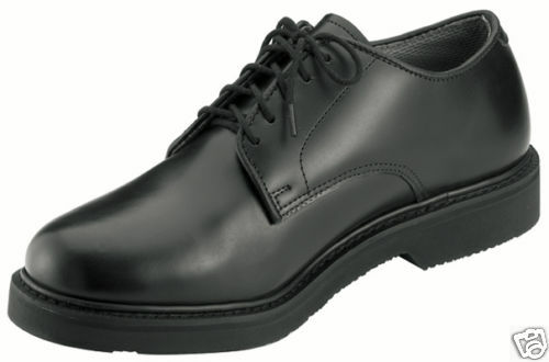 redhco 5085 Soft Sole Military Uniform Oxford shoes - Wide Widths - Black