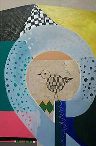 PAINTING-Acrylic-collage-on-canvas-034-Nesting-034-51-x-76cm-unframed