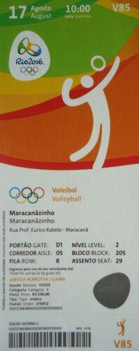 Iran # V85 mint TICKET 17.8.2016 Olympia Volleyball Men/'s Italien