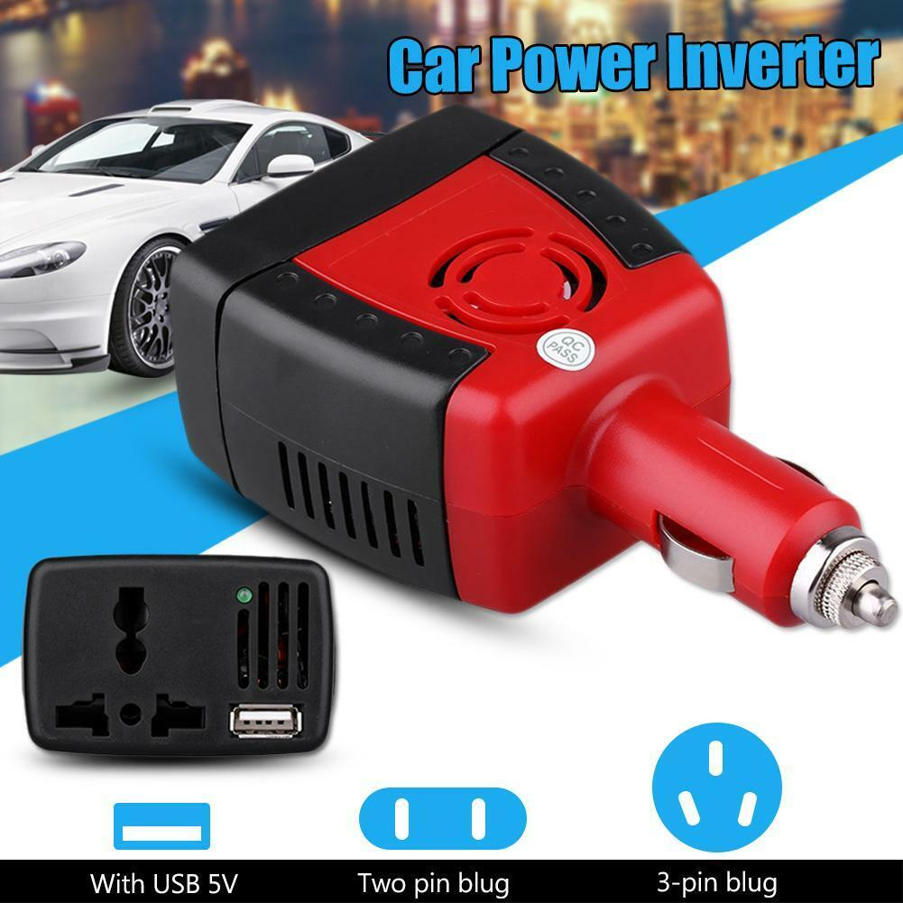 New 150W Car Power Inverter Charger Adapter 12V DC To 110//220V AC+USB 5V RA