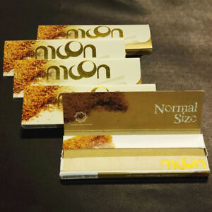 5-50-sheets-70mm-1-0-inch-Moon-Unbleached-Cigarette-Rolling-Papers-250-leaves