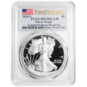 2018-S Limited Edition Silver Proof Set $1 American Silver Eagle PCGS PR70DCAM F