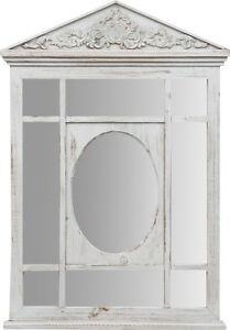 Specchiera in legno con specchio ovale per camera letto bagno ingresso ebay - Specchio ovale per bagno ...