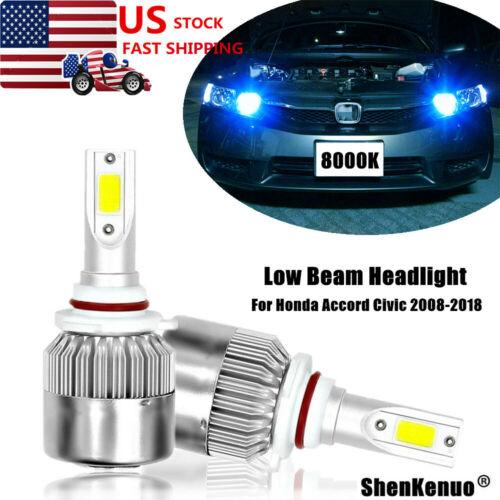 Ice Blue 8000K LED Headlight Low Beam Conversion Kit for Honda Civic 2008-2018