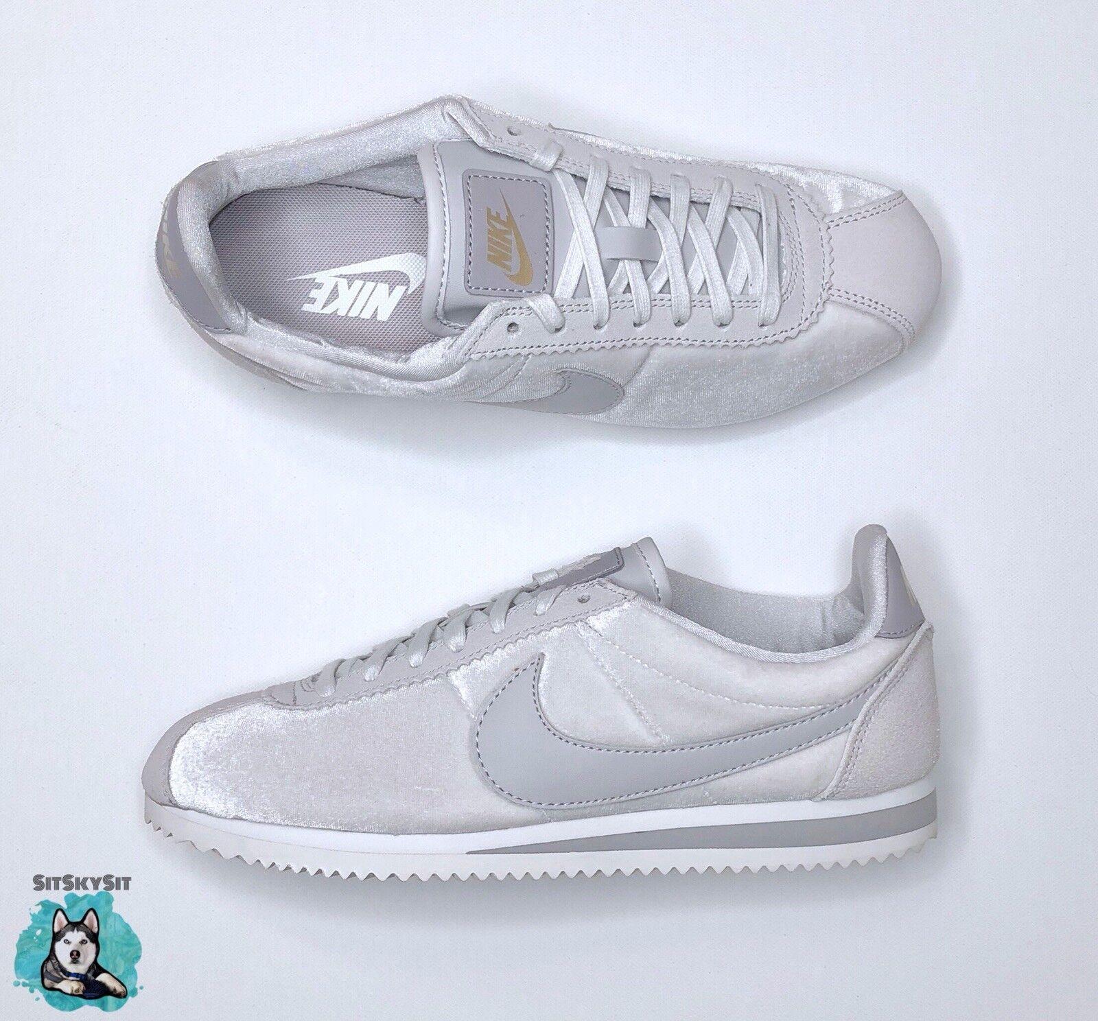 new style af8ce 351f2 Nike Classic Classic Classic Cortez SE Vast Grey White 902856-011 Women Size  8 6d8fbc