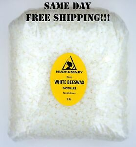 WHITE-BEESWAX-BEES-WAX-by-H-amp-B-Oils-Center-ORGANIC-PASTILLES-BEADS-32-OZ-2-LB