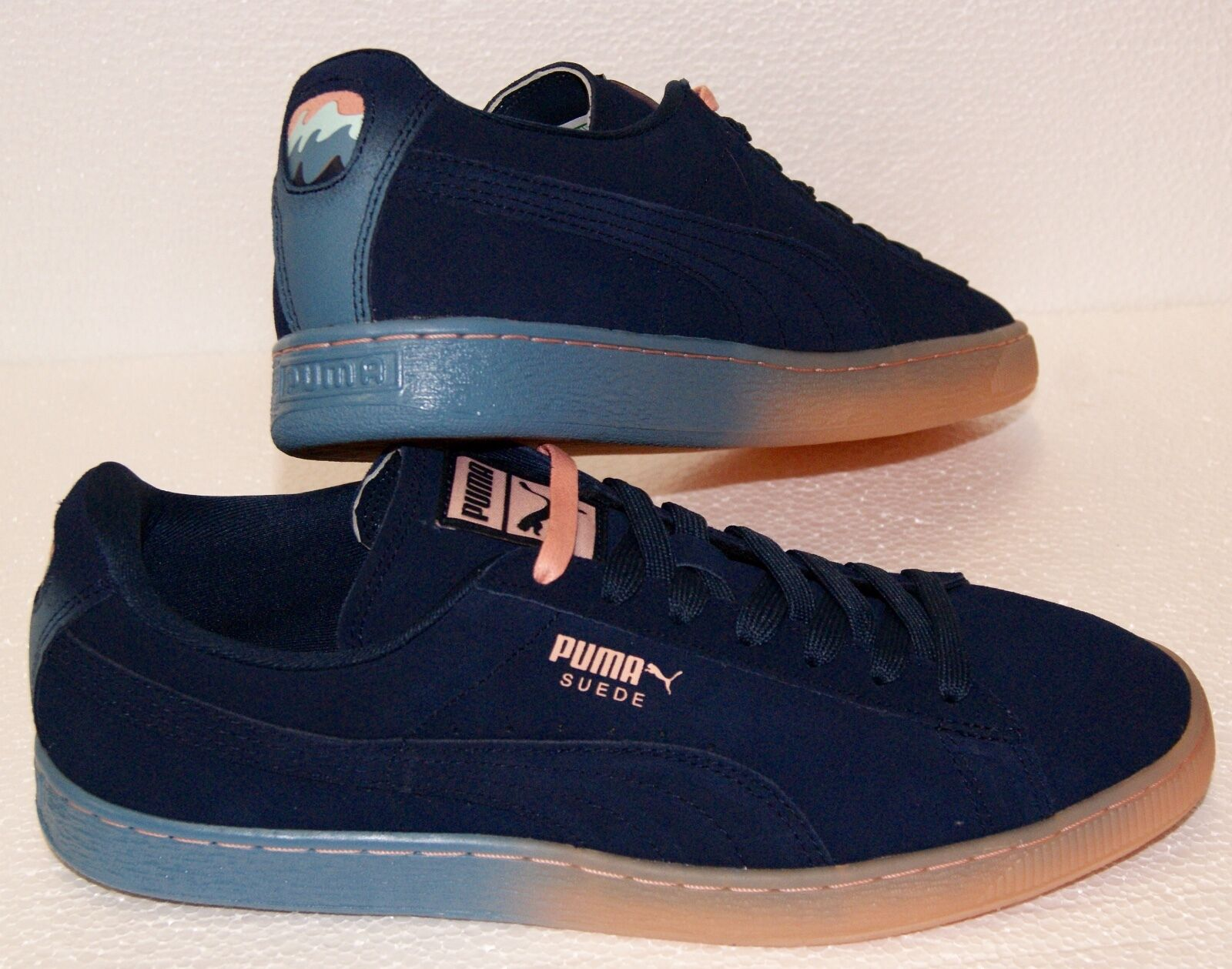 Puma X Pink Dolphin Suede Classic PD Dress Blue Coral Pink Sneakers BRAND NEW