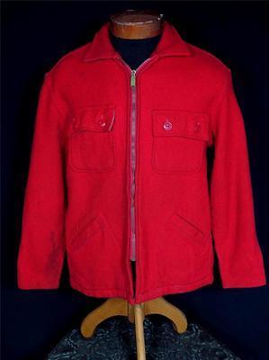 Analitico Rarissima Classico Vintage 1930's -1940's Rosso Lana Union Made Giacca Misura
