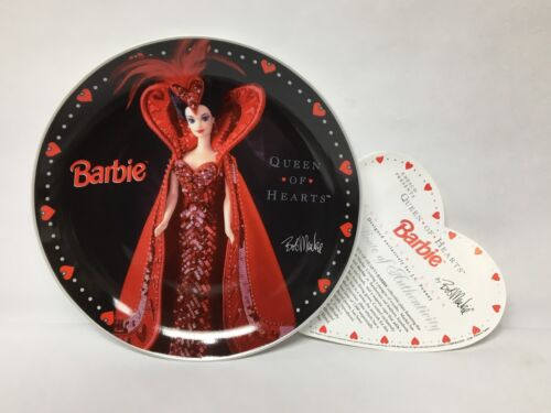 "Barbie Queen Of Hearts Collector's Plate 1995 Bob Mackie 20897500 8"" Valentine"