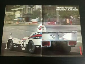 PORSCHE-936-MARTINI-DU-MANS-RACE-CAR-POSTER-FROM-FRENCH-MAGAZINE-AFFICHE-M12