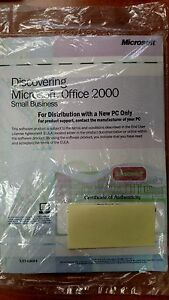 Details about Microsoft Office 2000 Small Business - Word, Excel, etc w/COA  Key 2 CD Sealed
