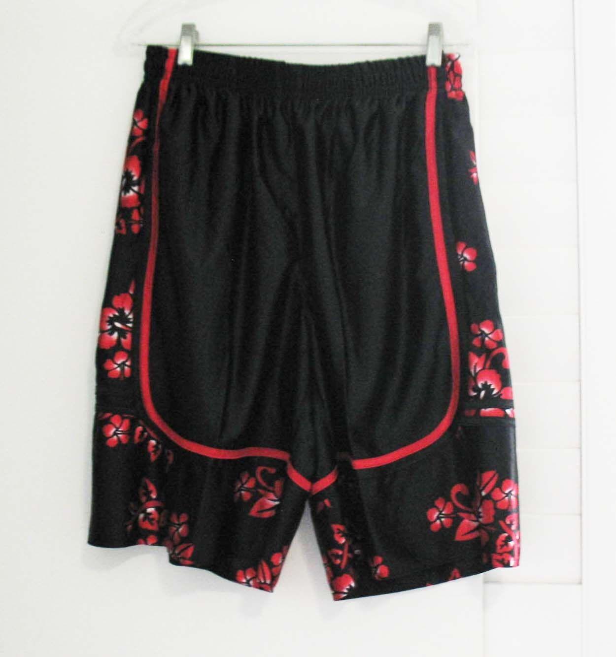Adorno De Baloncesto Pantalones Cortos Hawaianos Hibiscus Hibiscus Hibiscus Negro Talla 4XL-Nuevo con etiquetas ab21f7