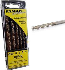 FAMAG Holzspiralbohrersatz 5-teilig D=3,4,5,6,8mm in Kassette