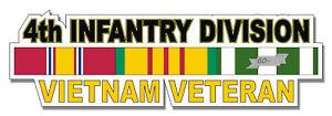 4th-Infantry-Division-Vietnam-Veteran-5-5-034-Window-Sticker-039-Officially-Licensed-039