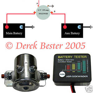 Details about DUAL BATTERY ISOLATOR SOLENOID - FREE SPIKE PROTECTION on