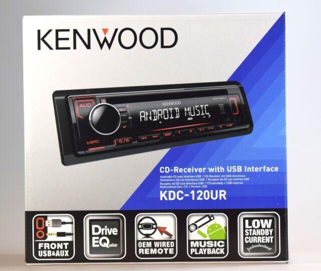KENWOOD KDC-120UR CD-Tuner,USB,AUX,RDS,MP3, 1DIN-Gerät
