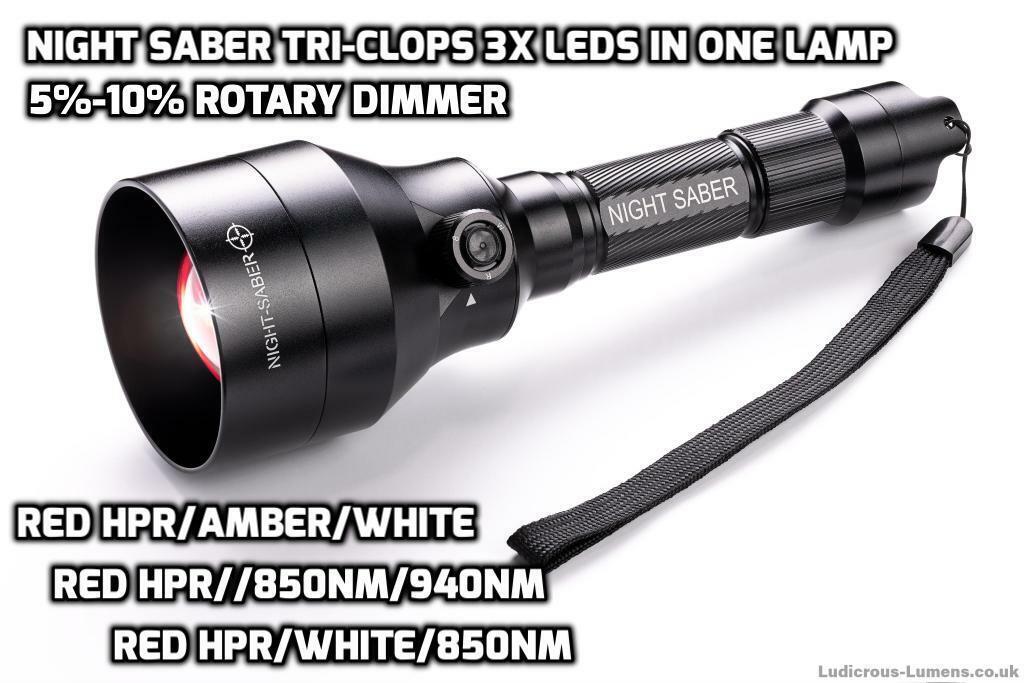 NS68 TriIRIS 3x 3x 3x LED Brillanti Rosso Ambra Bianco IR Caccia Lampada IR  KIT 9c6