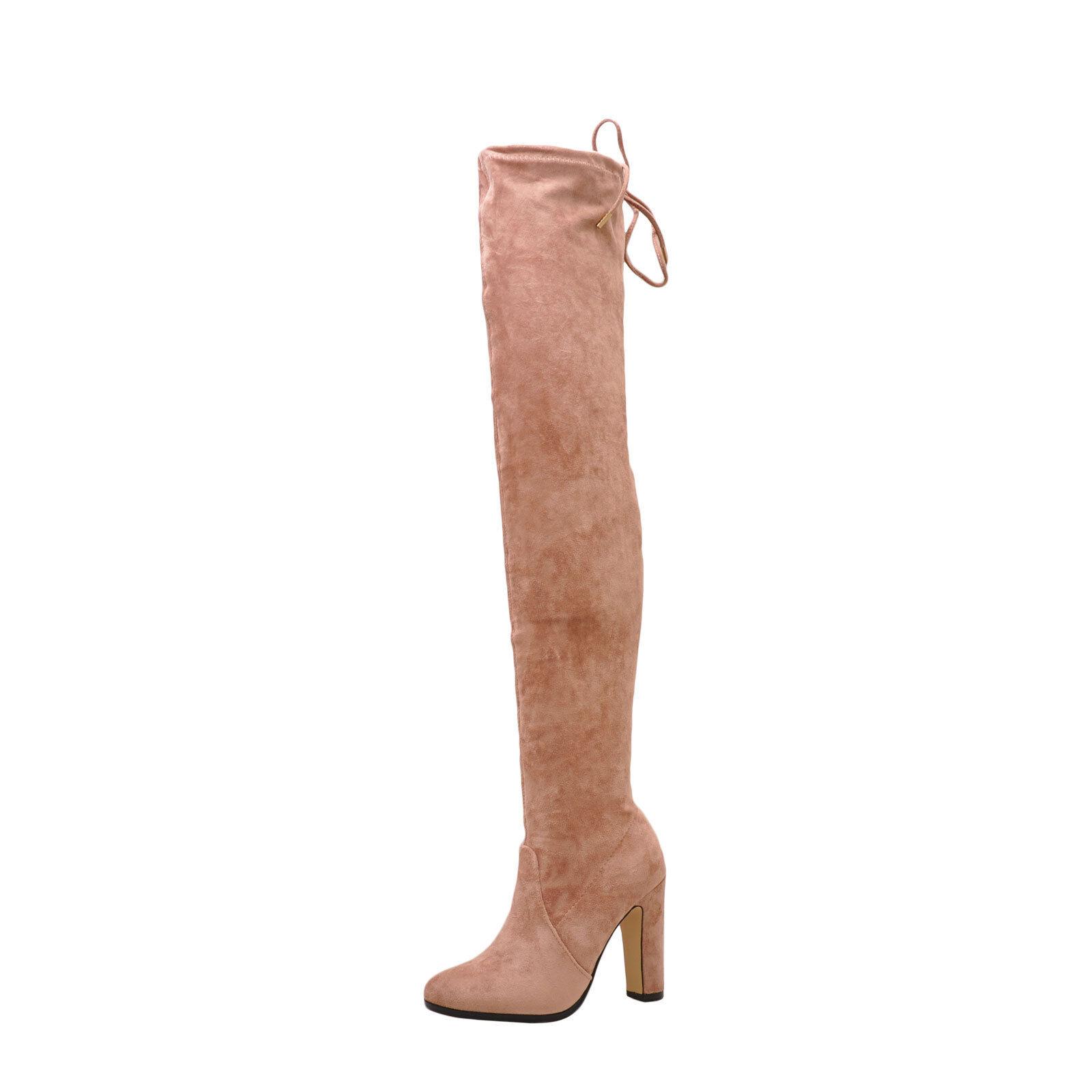 Damenschuhe Schuhes Cape Robbin Thigh Mona 1 Faux Suede Thigh Robbin High Boot Mauve New acd294