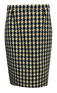 Size And Black Ex 12 Tweed Checked Boden Skirt Yellow wF0nxRpqg
