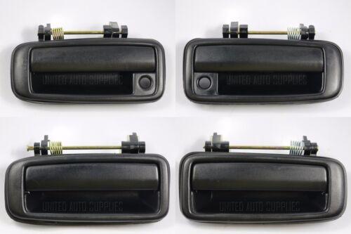 Set of 4 Outside Door Handle Textured Black for 88-91 Corolla Prizm