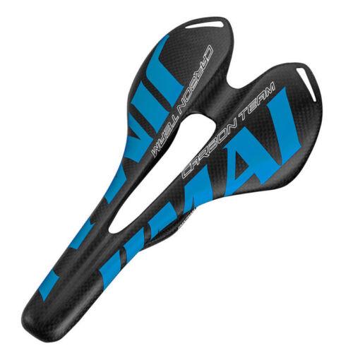 Carbon Fiber Bicycle Saddle Racing Road Mountain Bike Seat Cycling Cushion Pad