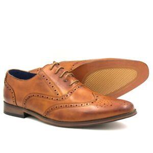 Uomo-Nuovo-Di-Zecca-CALATA-Formale-Matrimonio-Ufficio-Abito-scarpe-Camel