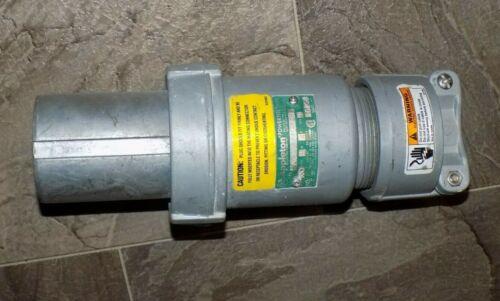 Appleton ACP1044CDRS 100 Amp Pin Sleeve Plug 4-Pole 4-Wire STY-1 Reverse Service
