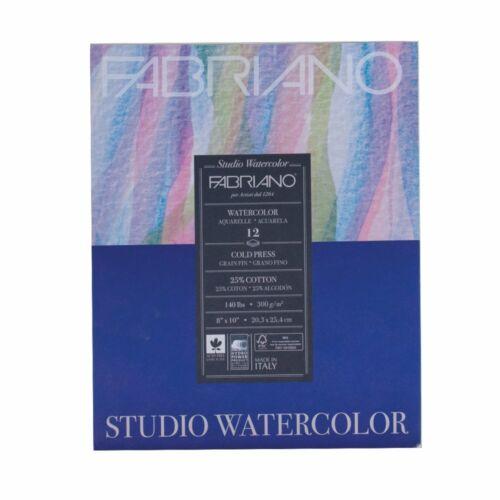 """Fabriano Studio Watercolor Paper 140 lb Cold Press 12-Sheet Pad 11x14/"""""""