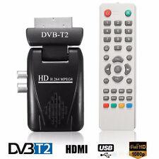 Digital DVB-T2 H.264 HD Scart Terrestrial Receiver TV Box USB SD HDMI IR +Remote