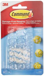 3M COMMAND Hooks Decorating Clips Self-Adhesive Strips Wall Hanging Fairy Lights   eBay