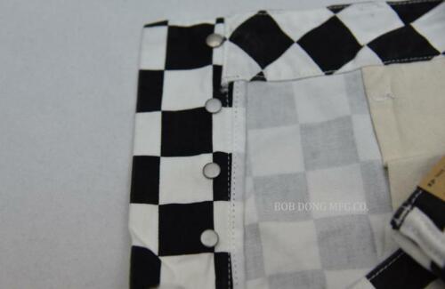 BOB DONG Checkerboard Racing Track Style Summer Men Shorts Black /& White Check