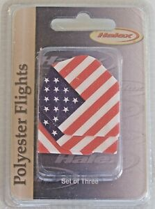 HALEX-QUALITY-POLYESTER-DART-FLIGHTS-SET-of-3-AMERICAN-FLAG-USA-RED-WHITE-BLUE