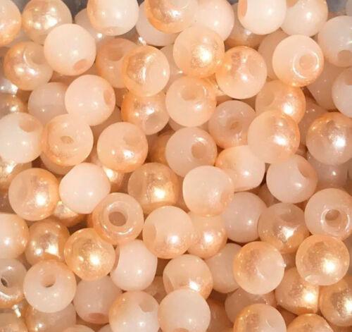 meliert-creme-gold Ø 4 mm Glasperlen 50 Stück