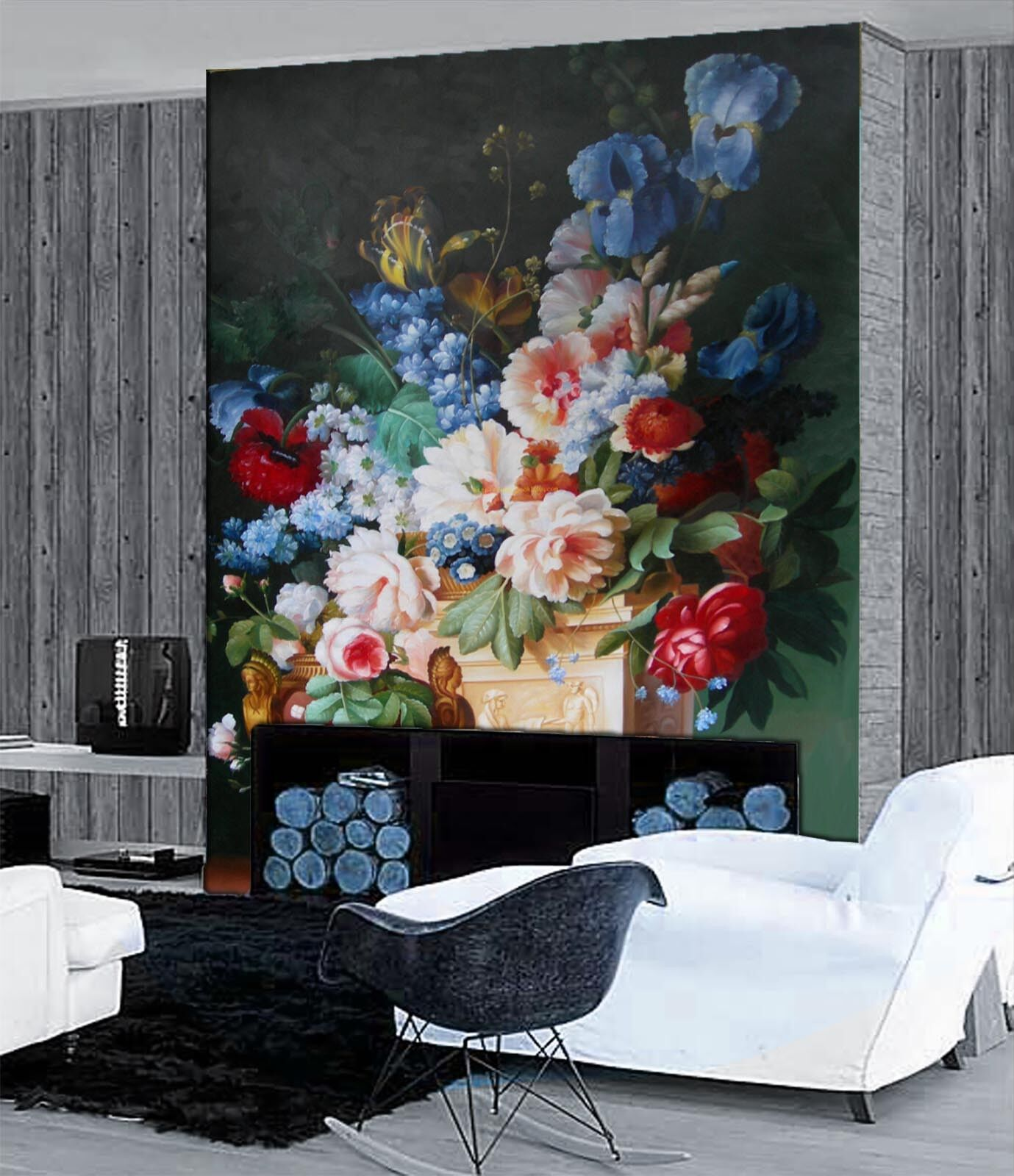 3D Bouquet 4159 Wallpaper Murals Wall Print Wall Mural AJ WALLPAPER UK Lemon