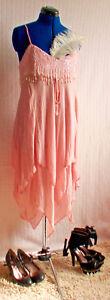 Size Sparkly Gatsby Vintage Uk Charleston Beaded Whistles Style Dress Pink 14 S0Hw1ppxq
