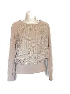 TRINA-TURK-Size-Medium-MERINO-WOOL-and-Silk-Sweater-Top