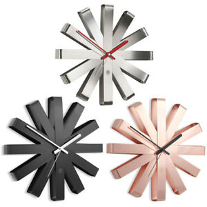 Dettagli su Umbra Ribbon Orologio da Parete Design Muro Orologio Orologio  Da Cucina Baduhr Baduhr- mostra il titolo originale