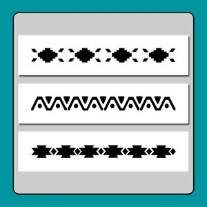6 X 12 STENCIL 3 Kokopelli Dancing//Music//Fertility//Southwestern Flute//Drum