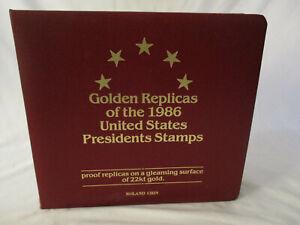 22K Golden Replicas United States Presidents 36 Stamps Envelopes