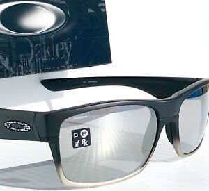 e95bdd77127 NEW  Oakley TWO FACE Machinist BLACK w CHROME Iridium Lens Sunglass ...