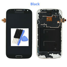 LCD Display Touch Screen Vetro Schermo Frame Per Samsung Galaxy S4 i9505 Black