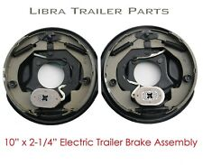 "New 10"" x 2-1/4"" electric trailer brake assembly pair for 3,500 lbs axle - 21003"