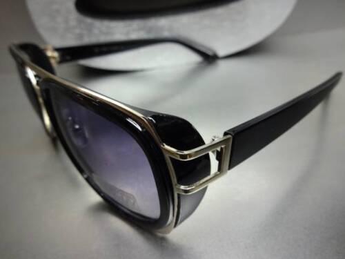 Men/'s or Women CLASSIC VINTAGE RETRO BLINDER Style SUNGLASSES Black /& Gold Frame