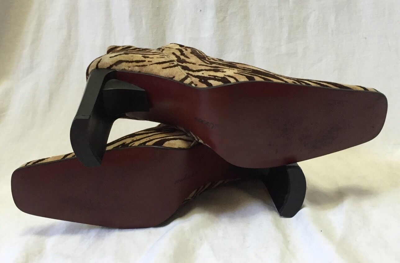 Palizzio Zebra Suede Fabric Booties Ankle Boots W… - image 6