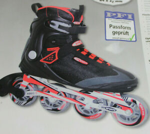 Gelegenheit-HySports-RED-Black-Speed-Inline-Skates-Herren-ALU-Groesse-46-9256